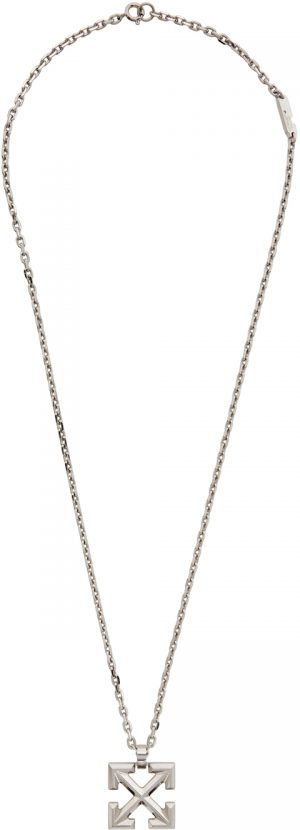 Off-White Silver Arrows Necklace