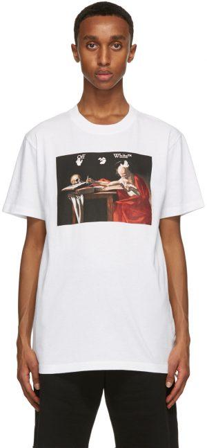 Off-White White Caravaggio Print T-Shirt