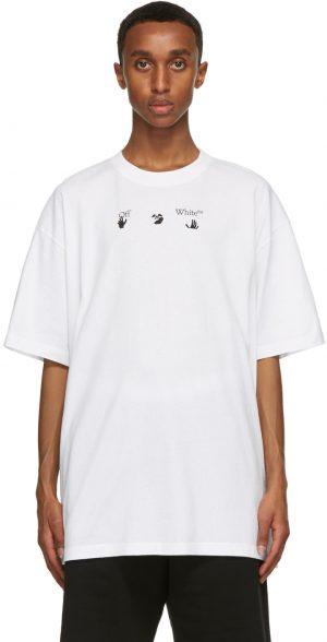 Off-White White Print World Peace T-Shirt