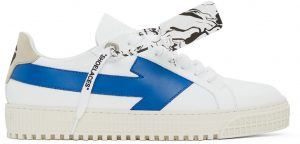 Off-White White & Blue Arrows Sneakers