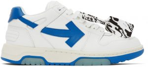 Off-White White & Blue Out Of Office Sneakers