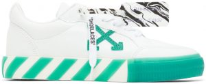 Off-White White & Green Vulcanized Low Sneakers