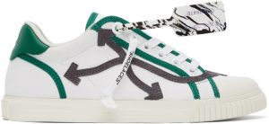 Off-White White & Grey New Vulcanized Low Sneakers