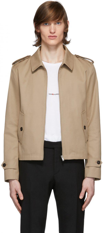 Saint Laurent Beige Gabardine Double Face Jacket