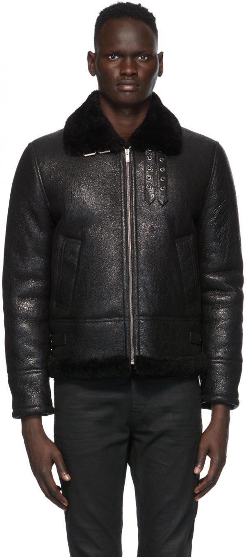 Saint Laurent Black Aviator Jacket