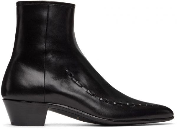 Saint Laurent Black Casey Ankle Boots