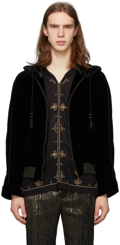 Saint Laurent Black Djabella Jacket