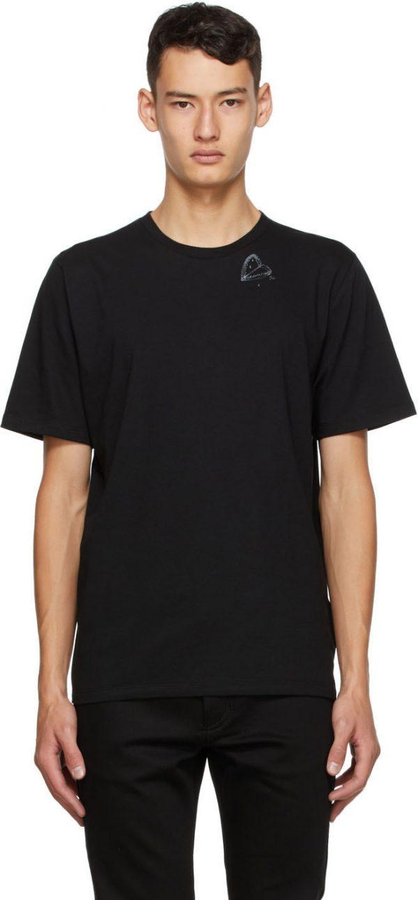 Saint Laurent Black Heart Trap T-Shirt