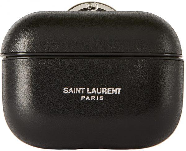 Saint Laurent Black Logo Airpods Pro Case