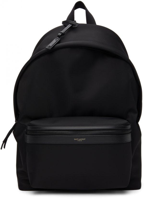 Saint Laurent Black Nylon City Backpack