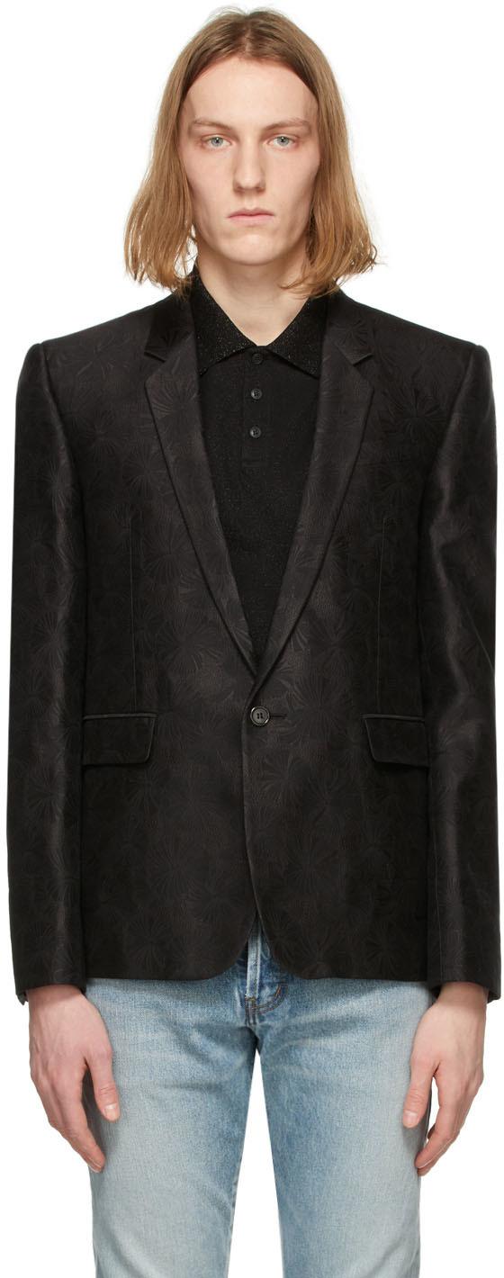 Saint Laurent Black Parasol Tailored Blazer