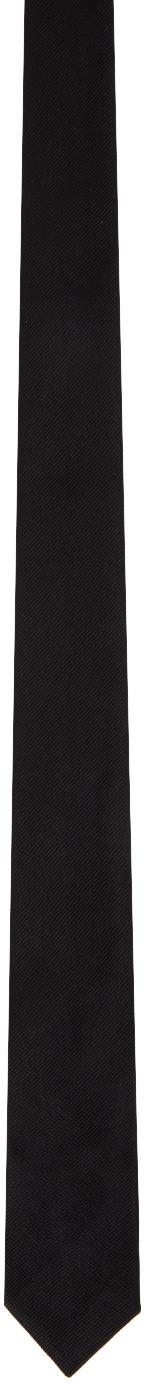 Saint Laurent Black Reps Tie