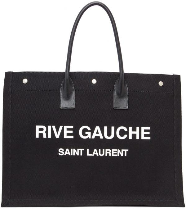 Saint Laurent Black 'Rive Gauche' Noe Tote