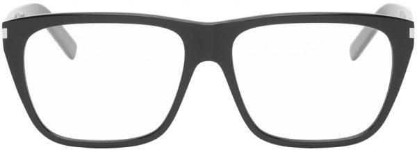 Saint Laurent Black SL 434 Slim Square Glasses