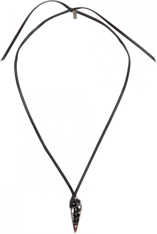 Saint Laurent Black Seashell Dagger Necklace