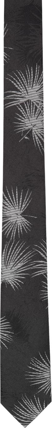 Saint Laurent Black Silk Jungle Tie