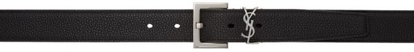 Saint Laurent Black Square Monogramme Belt