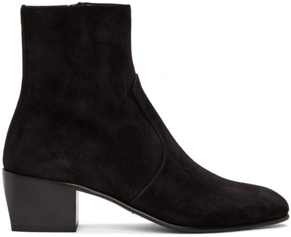 Saint Laurent Black Suede James Boots