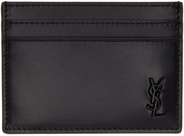 Saint Laurent Black Tiny Monogramme Card Holder