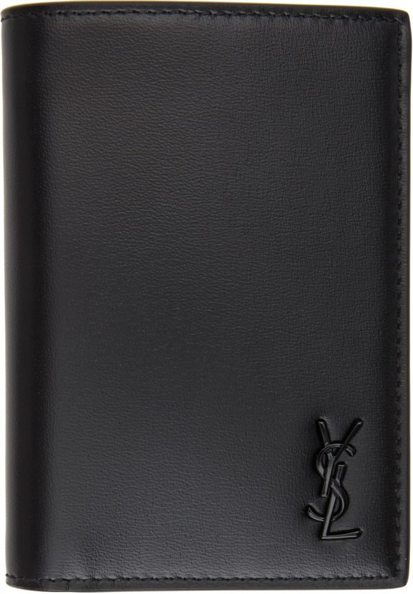 Saint Laurent Black Tiny Monogramme Wallet