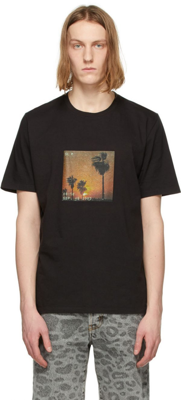Saint Laurent Black VHS Sunset T-Shirt