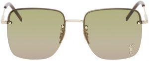 Saint Laurent Gold SL 312 Sunglasses