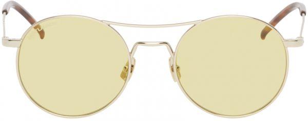 Saint Laurent Gold SL 421 Sunglasses