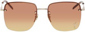 Saint Laurent Gold & Brown SL 312 Sunglasses