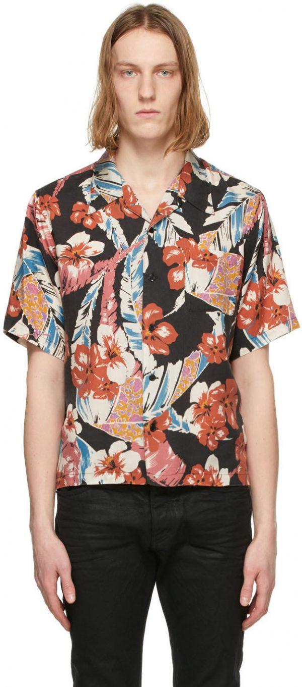 Saint Laurent Multicolor Tropical Short Sleeve Shirt