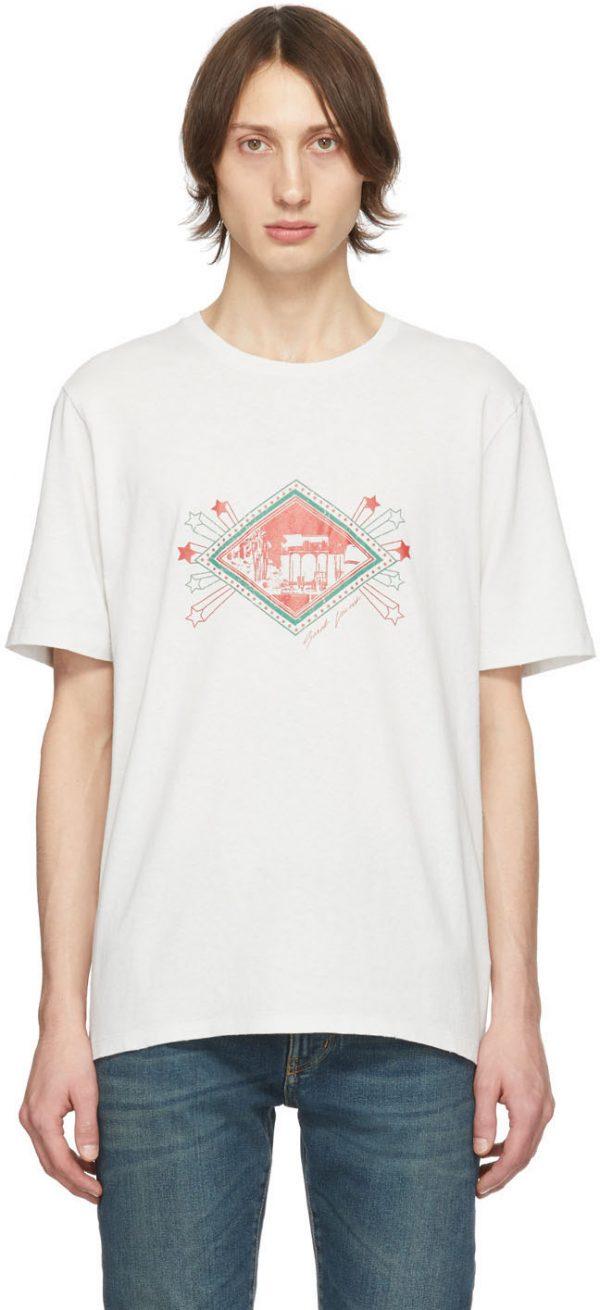 Saint Laurent Off-White Jardin Majorelle T-Shirt