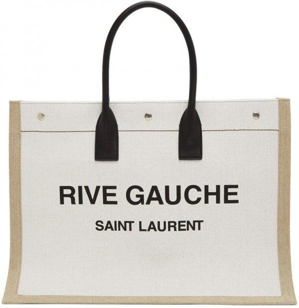 Saint Laurent Off-White 'Rive Gauche' Tote