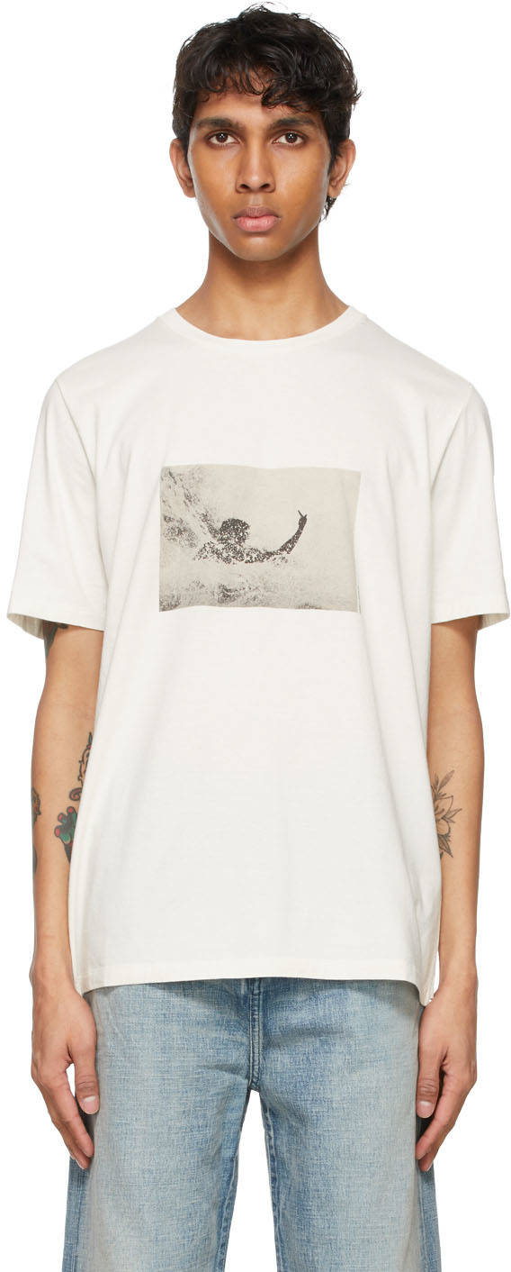 Saint Laurent Off-White Wave Surfer T-Shirt