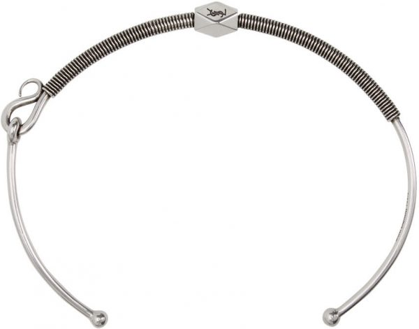 Saint Laurent Silver Coiled Necklace