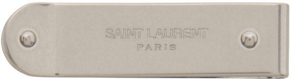 Saint Laurent Silver ID Money Clip