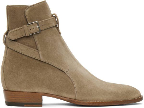Saint Laurent Tan Wyatt Jodhpur Boots