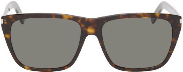 Saint Laurent Tortoiseshell SL 431 Slim Square Sunglasses