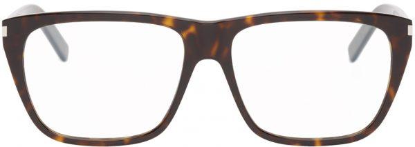 Saint Laurent Tortoiseshell SL 434 Slim Glasses