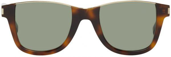 Saint Laurent Tortoiseshell SL 51 Cut-Away Sunglasses