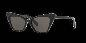 Saint Laurent Unisex YS000085 - Frame color: Black, Lens color: Grey-Black, Size 51-17/145