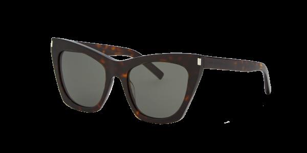Saint Laurent Unisex YS000091 - Frame color: Tortoise, Lens color: Grey-Black, Size 55-20/145