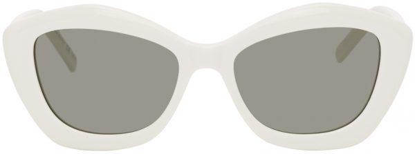 Saint Laurent White SL 68 Sunglasses