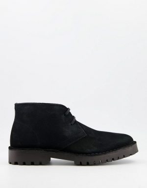 Selected Homme chukka boots with chunky sole in black