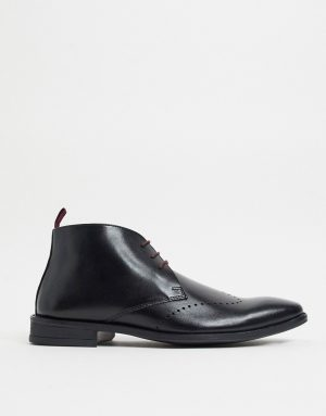 Silver Street formal chukka boots in black leather