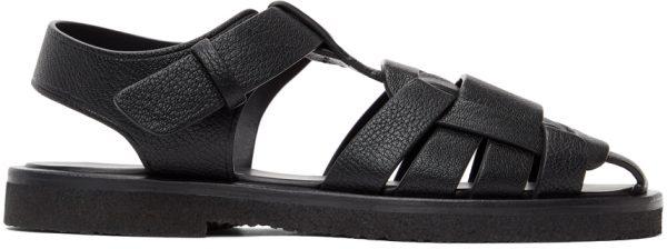 The Row Black Gaia 2 Sandals