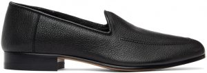 The Row Black Moccasin Loafers