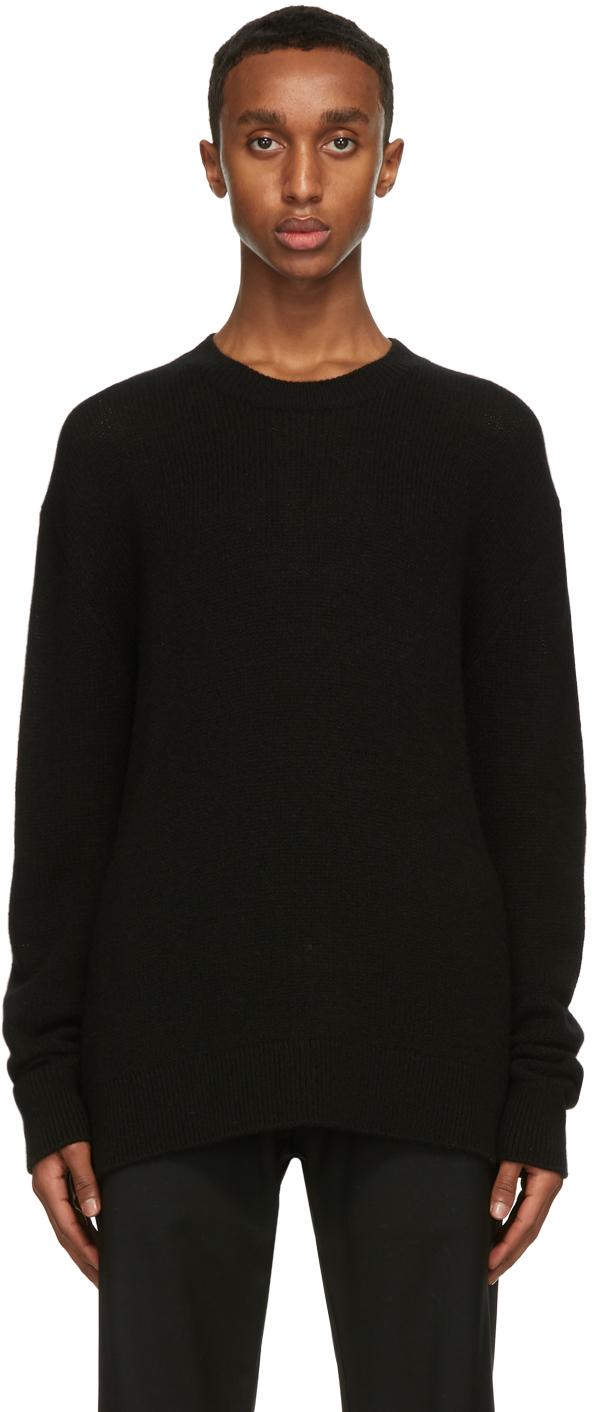The Row Black Stefan Sweater