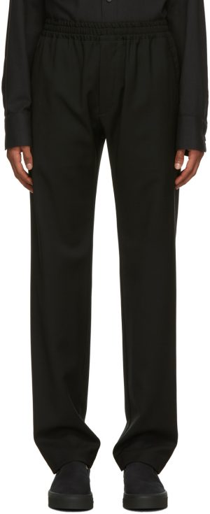 The Row Black Wool Josh Trousers
