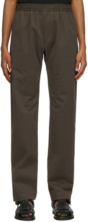 The Row Brown Cotton Josh Trousers