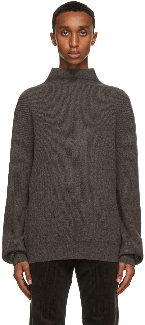 The Row Brown Daniel Sweater