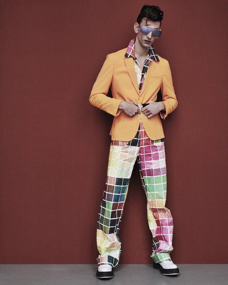 Thibaud Charon Rocks Bold Fashions for Apollo Magazine